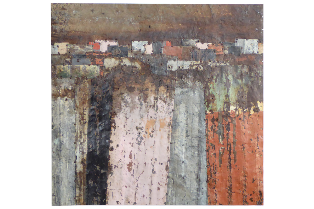 Fences Study. 120 x 114cm