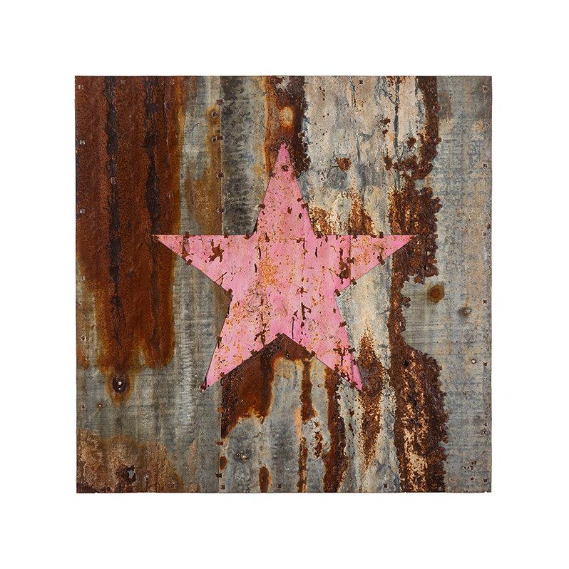 Pink star. 88cm x 88cm
