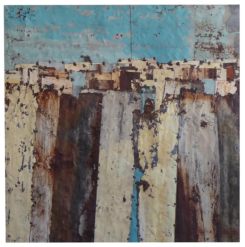 Fences. Colour study 9.  100 x 100.