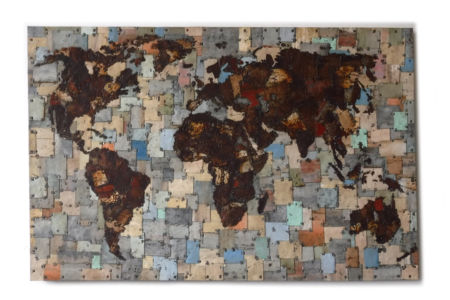 World Map. 190 x 100cm.