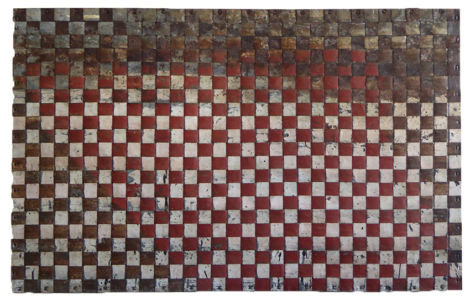 Weaving study. Red & cream. 104x66cm