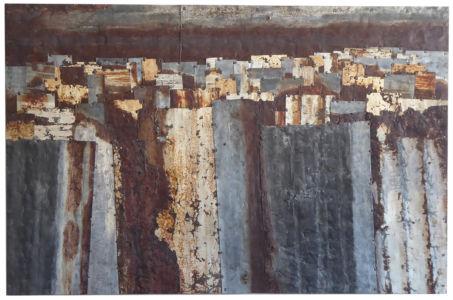 Fences. Colour Study 12 145 x 90.