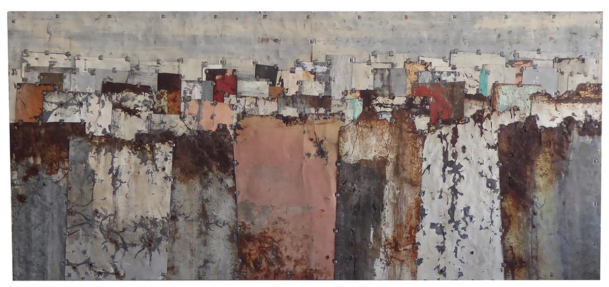 Fences. Colour Study 7 140 x 65.