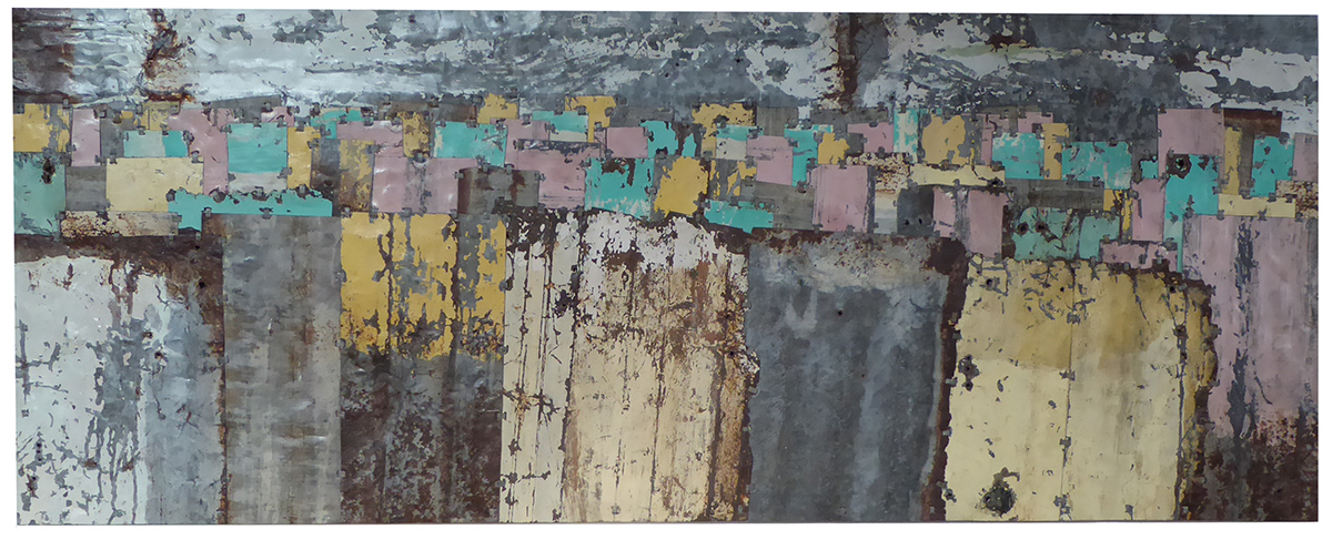 Fences colour study 8  170 x 65