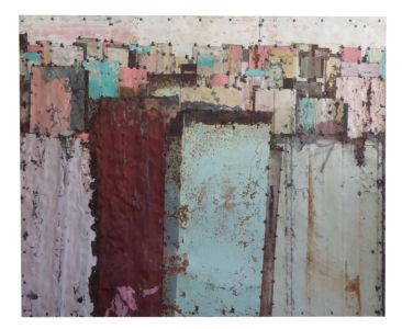 Fences. Colour Study 2. 135 x 110